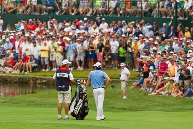 2011年 全米オープン 最終日 ロリー・マキロイ 全米オープン最終日のロリー・マキロイ。今後はより一層、欧米両ツアーがその去就に注目するはずだ((c)USGA/John Mummert)