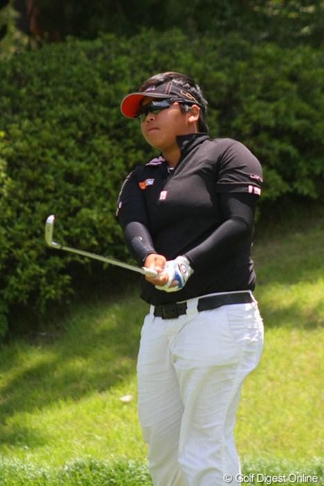 疲れに不安が残る中、明日は「普通にゴルフすることが目標」と語った 2011年 日本女子アマチュアゴルフ選手権競技 4日目 池田智廣
