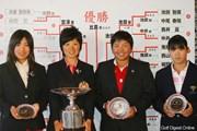 2011年 日本女子アマチュアゴルフ選手権競技 最終日 (左から)堀奈津佳、比嘉真美子、チヒロ・イケダ、佐伯珠音
