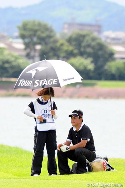 お疲れちゃんで休憩中の平塚テッちゃん。それでも中年パワー全開で、6位タイ。日本人では2位という好成績。