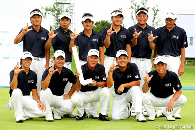 2011年 韓日プロゴルフ対抗戦 ミリオンヤードカップ 事前情報 日本選抜 06年以来の開催となった昨年は、日本選抜が1ポイント差で韓国選抜を撃破!