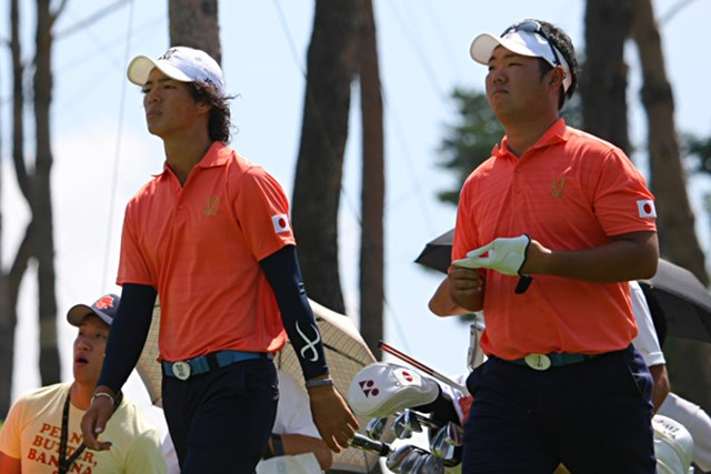 薗田峻輔とコンビを組んだ石川遼は、ベ・サンムン&カン・キョンナム組に対し、昨年の大会2日目に続いて2連敗