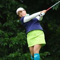 徐々に被災のショックから立ち直りつつある川原由維。3位タイの好スタートを切った 2011年 日医工女子オープンゴルフトーナメント 初日 川原由維