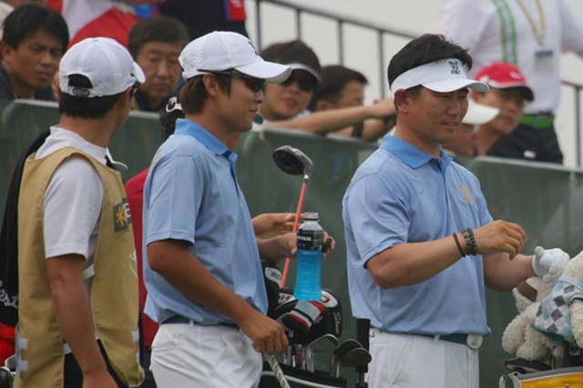 """キム・キョンテはアジア勢史上、ただ一人のメジャーチャンピオンの存在感を""""かすませる""""ほどのプレーを見せた。"""