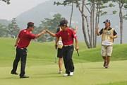 2011年 韓日プロゴルフ対抗戦 ミリオンヤードカップ 2日目 藤田寛之、松村道央