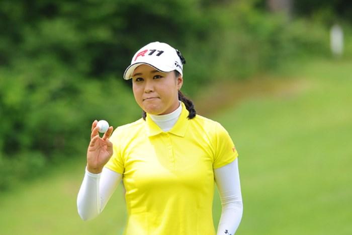 復帰戦となった宋ボベは、惜敗を喫するも清々しい表情が印象的だった 2011年 日医工女子オープンゴルフトーナメント 最終日 宋ボベ