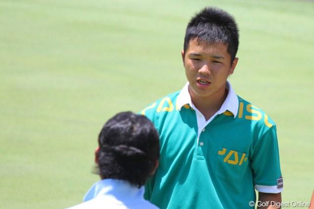 2011年 日本アマチュアゴルフ選手権競技 初日 伊藤誠道 16歳とは思えぬ貫禄。43位タイと出遅れた伊藤誠道が2日目に巻き返しを狙う