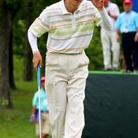 どんなに暑くても、この人だけは清々しい表情でプレー 2011年 トータルエネルギーCUP PGAフィランスロピーシニアトーナメント 初日 牧野裕