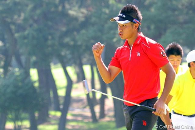 2011年 日本アマチュア選手権競技 2日目 松山英樹 念願のメダリストとなった松山英樹、3日後には優勝杯も掴むか!?
