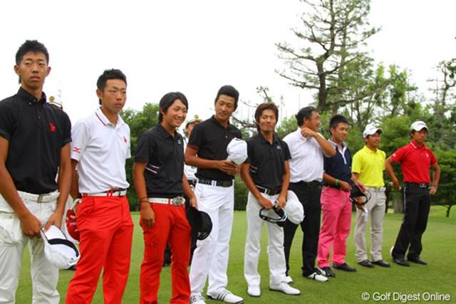 2011年 日本アマチュア選手権競技 2日目 プレーオフ 4オーバーで並んだ9人でプレーオフを行い4人が勝ち抜きとなる