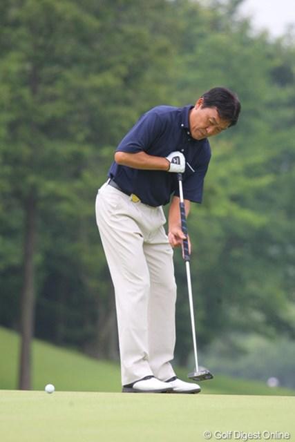 2011年 トータルエネルギーCUP PGAフィランスロピーシニアトーナメント 2日目 羽川豊 世界のレフティ羽川プロ、常に笑顔でラウンドされていました