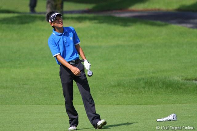 2011年 日本アマチュアゴルフ選手権競技 4日目 石徳俊樹 伊藤、浅地と同じく高校生で準々決勝に残ったが、櫻井に敗れた石徳俊樹
