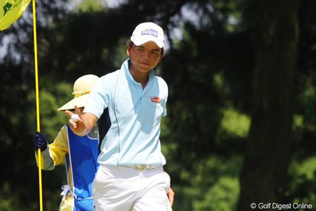 2011年 日本アマチュアゴルフ選手権競技 4日目 ホン・チェンヤオ 台湾のホン・チェンヤオは、アクションも表情も豊かでプレーを楽しんでいた