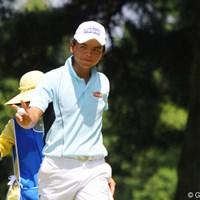 台湾のホン・チェンヤオは、アクションも表情も豊かでプレーを楽しんでいた 2011年 日本アマチュアゴルフ選手権競技 4日目 ホン・チェンヤオ