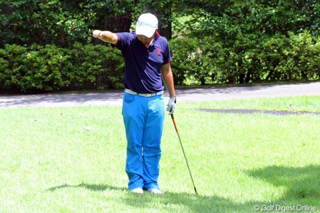 2011年 日本アマチュアゴルフ選手権競技 4日目 古田幸希 ショットが不安定でトラブル連発。それでも17番まで粘った古田幸希