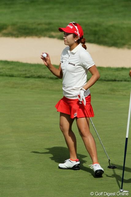 2011年 全米女子オープン 2日目 イ・ボミ 日本ツアーでも活躍するイ・ボミもスカート愛用者