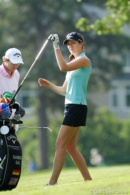 2011年 全米女子オープン 2日目 サンドラ・ガル 元モデル経験もあるS.ガル。素晴らしい美脚の持ち主です