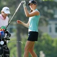 元モデル経験もあるS.ガル。素晴らしい美脚の持ち主です 2011年 全米女子オープン 2日目 サンドラ・ガル