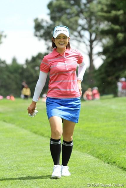 2011年 全米女子オープン 2日目 諸見里しのぶ 日本でもスカート着用の多い諸見里しのぶ。もちろんアメリカでも!