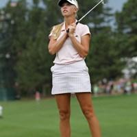 最近はミニスカートを着用する若手が増えたと実感 2011年 全米女子オープン 2日目 ジェシカ・コルダ