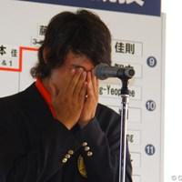 表彰式では感極まって思わず涙をこぼすシーンも 2011年 日本アマチュアゴルフ選手権競技 最終日 櫻井勝之