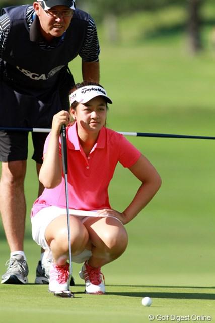 2011年 全米女子オープン 3日目 ガブリエラ・ゼン カリフォルニア州出身の15歳。昨年の全米アマでは優勝したD.カンに2回戦で敗れた