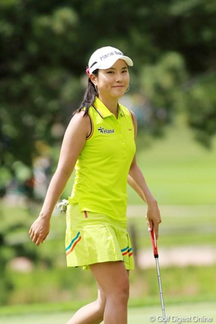 2011年 全米女子オープン 最終日 パク・ヒヨン 笑顔が爽やかな韓国美人
