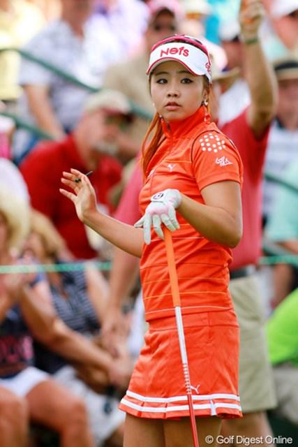 2011年 全米女子オープン 最終日 ヤン・スージン 目元が魅力的なロリ系美人