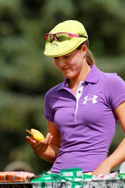 2011年 全米女子オープン 最終日 ビッキー・ハースト 鍛え上げられたボディーが魅力のパワフル美人