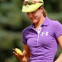 鍛え上げられたボディーが魅力のパワフル美人 2011年 全米女子オープン 最終日 ビッキー・ハースト