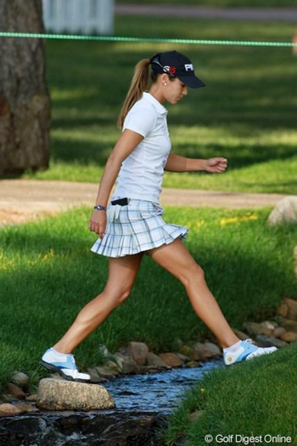 2011年 全米女子オープン 最終日 アサハラ・ムニョス スペインのアスレチック美人
