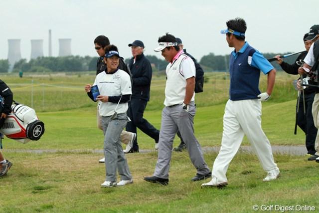 開幕2日前の練習で平塚哲二は藤田寛之、池田勇太とラウンド。「彼にいろんなことを聞くことができた」と藤田