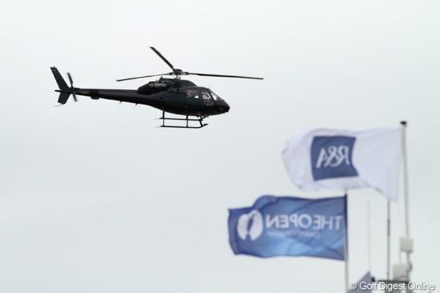 2011年 全英オープン事前情報 自家用? コース内に降り立ったヘリに乗っていたのは、誰だ?