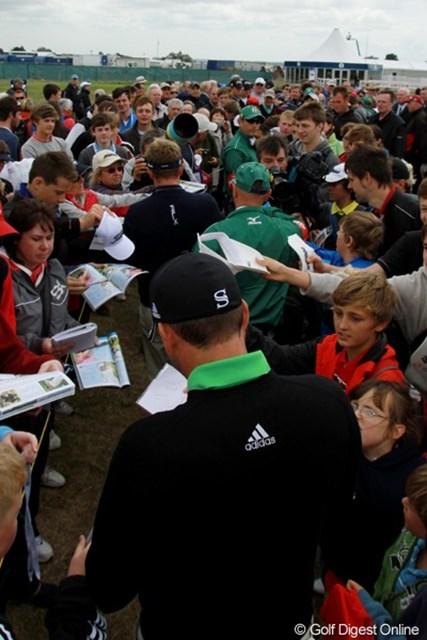 2011年 全英オープン事前情報 一番人気 ガルシアとドナルドが練習ラウンドを一緒にプレー。練習日の一番人気を集めた組になった