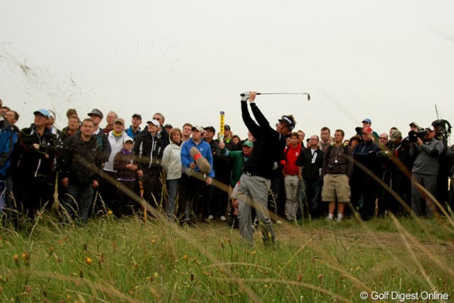 2011年 全英オープン 初日 バッバ・ワトソン リンクスでもパワフルなゴルフを魅せます。-1(18位タイ)