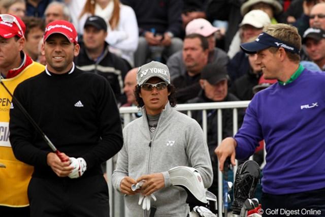 2011年 全英オープン 初日 石川遼 人気選手に挟まれて、少々肩身が狭かった?
