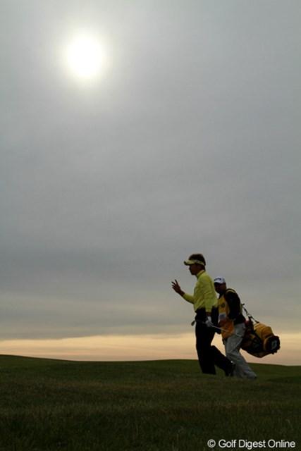 2011年 全英オープン 初日 高山忠洋 初日はイーブンパー(36位タイ)でスタート。穏やかになった午後の天候の利点を十分に活かした
