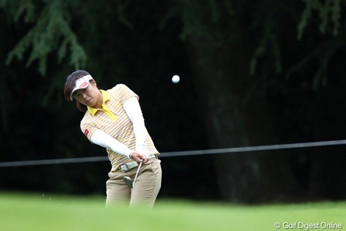 パットに加え「アプローチが良かった」という米山みどりが久々に上位に名を連らねた 2011年 スタンレーレディスゴルフトーナメント 初日 米山みどり