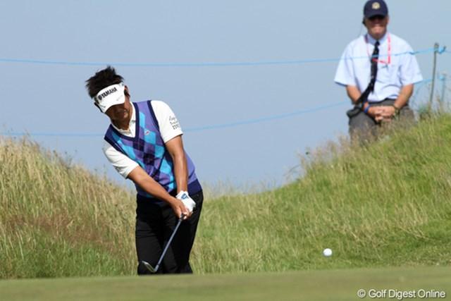 2011年 全英オープン 2日目 藤田寛之 藤田寛之は予選ラウンド2日間、いずれも後半に本来の我慢のゴルフを見せられなかった。