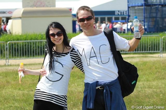 2011年 全英オープン 2日目 GMACファン カップルでマクドウェルのファンです