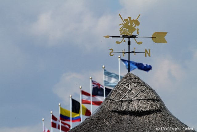 2011年 全英オープン 2日目 風見鶏 穏やかな1日だったが、朝、やんでいた風が昼前から吹き始めた