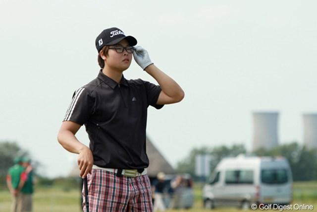 2011年 全英オープン 2日目 ハン・ジュンゴン おおよそアスリートとは思えない表情をしているが、実力は確か。立派に予選通過