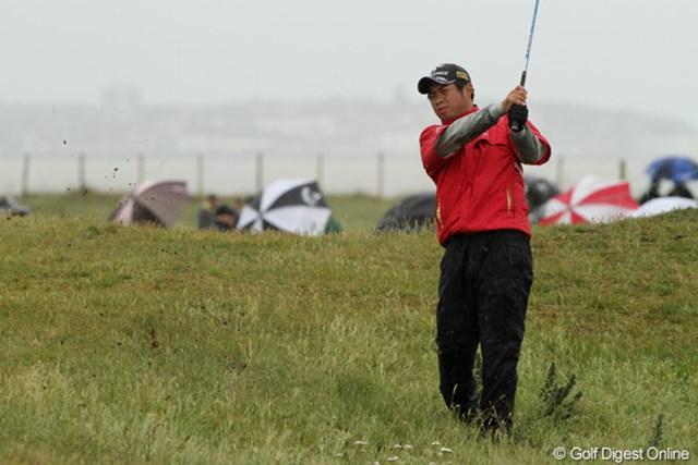 2011年 全英オープン 3日目 池田勇太 前半は悪天候に苦しみスコアを崩した池田勇太