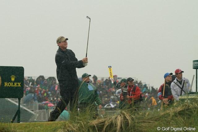 2011年 全英オープン 3日目 トム・ワトソン 難コンディションの中で一時は-1までスコアを伸ばした