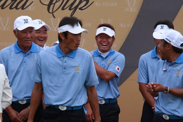 今年の日韓戦でも選手たちのムードメーカーとなった河井博大