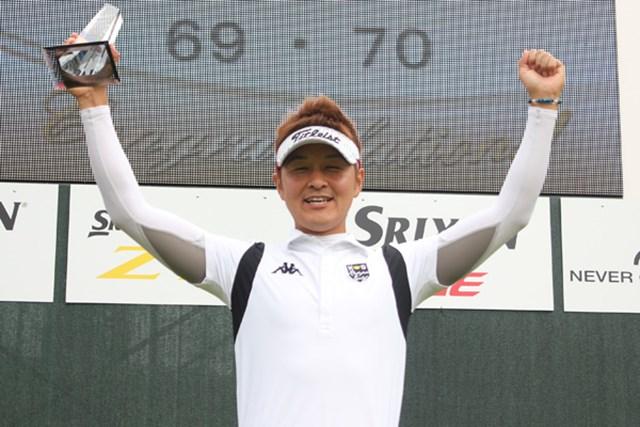 出場3試合目で初優勝を果たした萩森英道