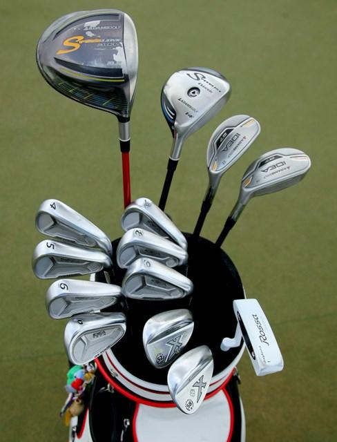 アメリカでは有名になったアダムスゴルフのクラブ。写真はヤニ・ツェンのクラブセッティング