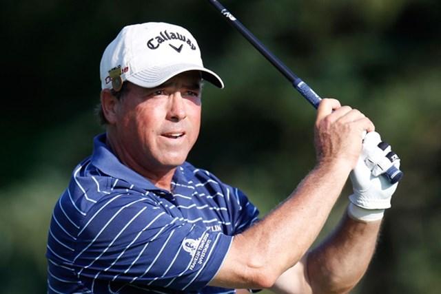 2011年 全米シニアオープン選手権 初日 オリン・ブラウン 後半に2つのイーグルを奪い単独首位となったオリン・ブラウン(Gregory Shamus/Getty Images)
