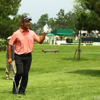 あまりゴルフの調子は良くないけど、丁寧なゴルフが功を奏しているようです。ノーボギーのラウンドで5つスコアを伸ばし、8アンダー単独3位です。 2011年 サン・クロレラ クラシック 2日目 井上忠久