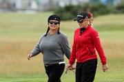 2011年 全英リコー女子オープン 2日目 ブルースブラザーズ(クリスティーナ・キム&ナタリー・ガルビス)